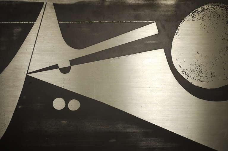 Nerone Giovanni Ceccarelli Zinc Panel 1974 at 1stdibs