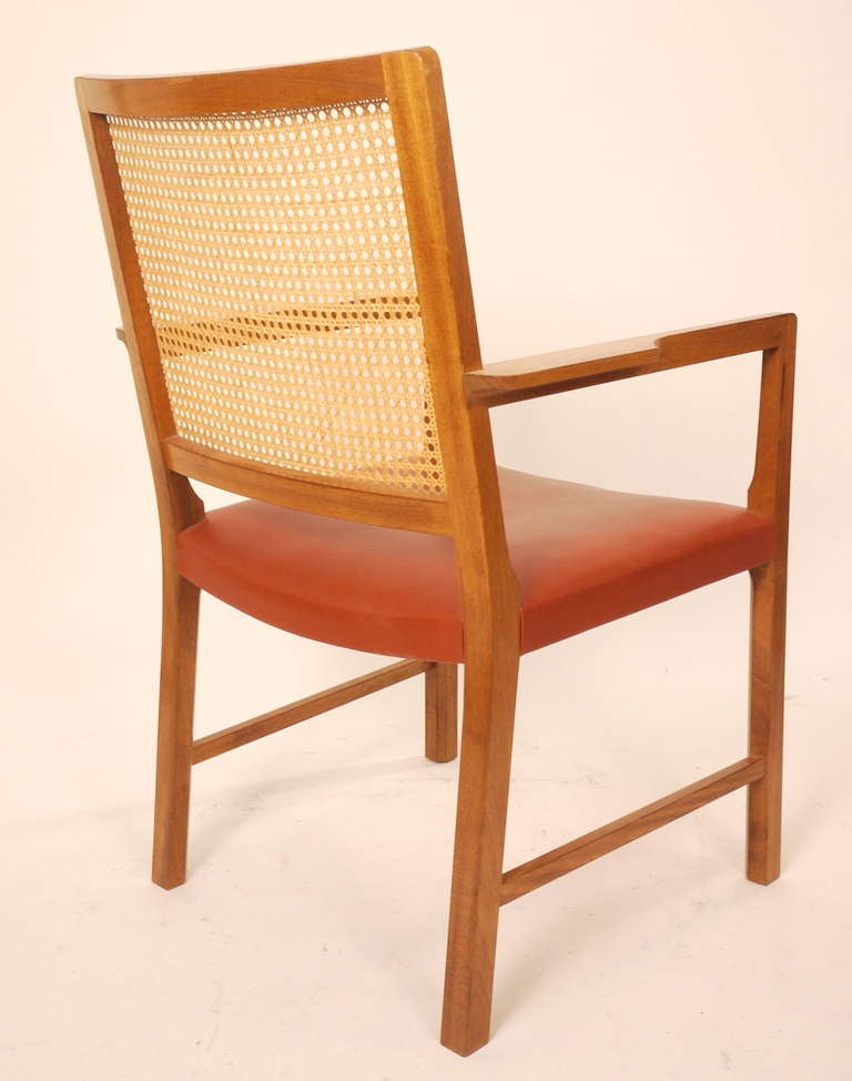 Six Mahogany Red Leather  Chairs by Bernt Petersen In Good Condition For Sale In Madrid, ES