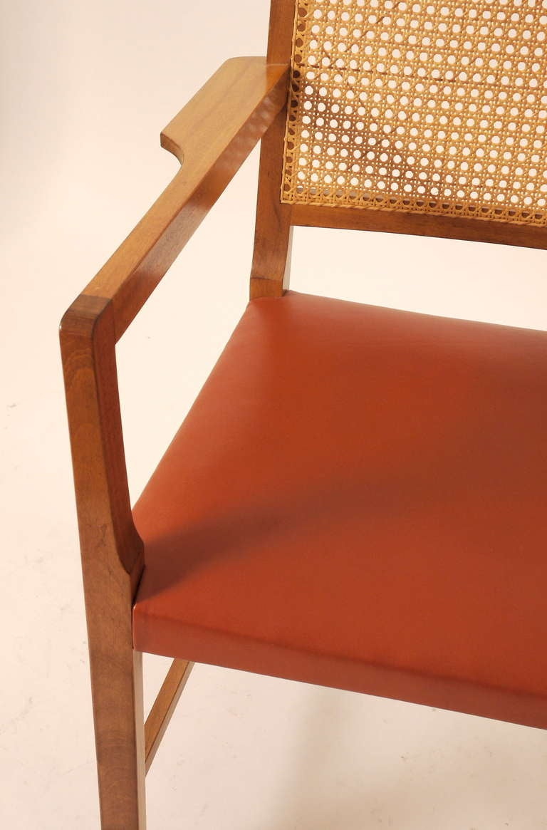 Mid-20th Century Six Mahogany Red Leather  Chairs by Bernt Petersen For Sale