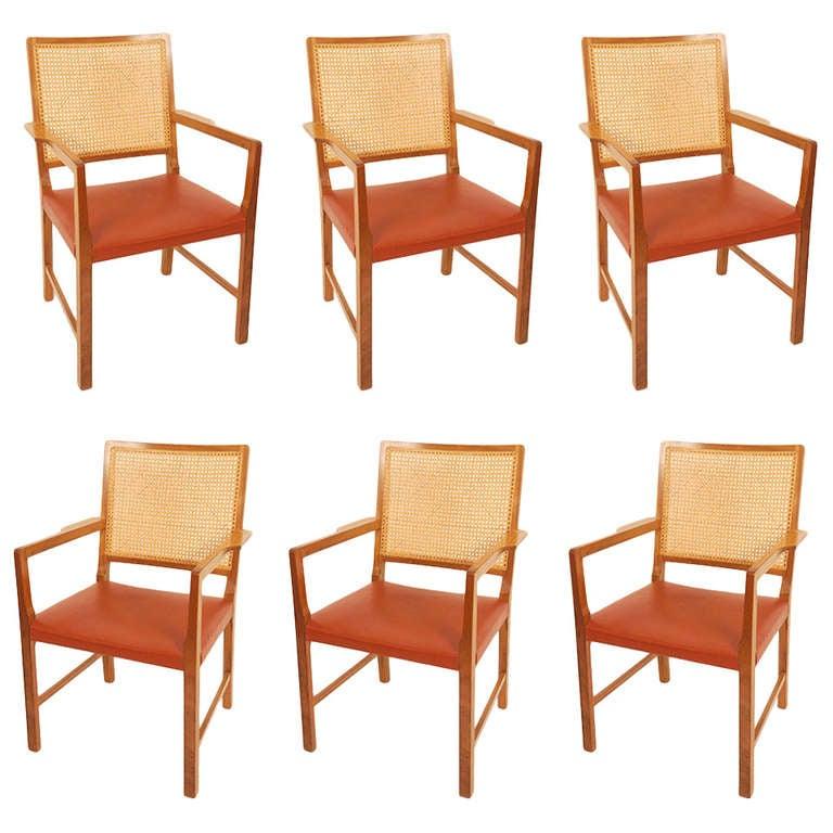 Six  Mahogany Chairs by Bernt Petersen