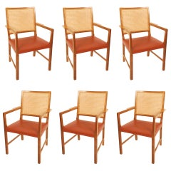 Six Mahogany Chairs by Bernt Petersen