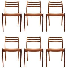 Six Niels Moller Model 78 Rosewood Dining Chairs