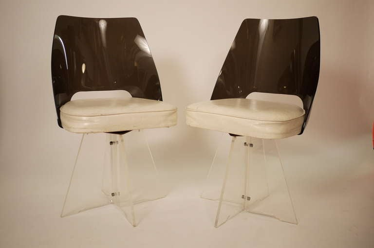 Pair Of 1950s Lucite Chair For Sale At 1stdibs