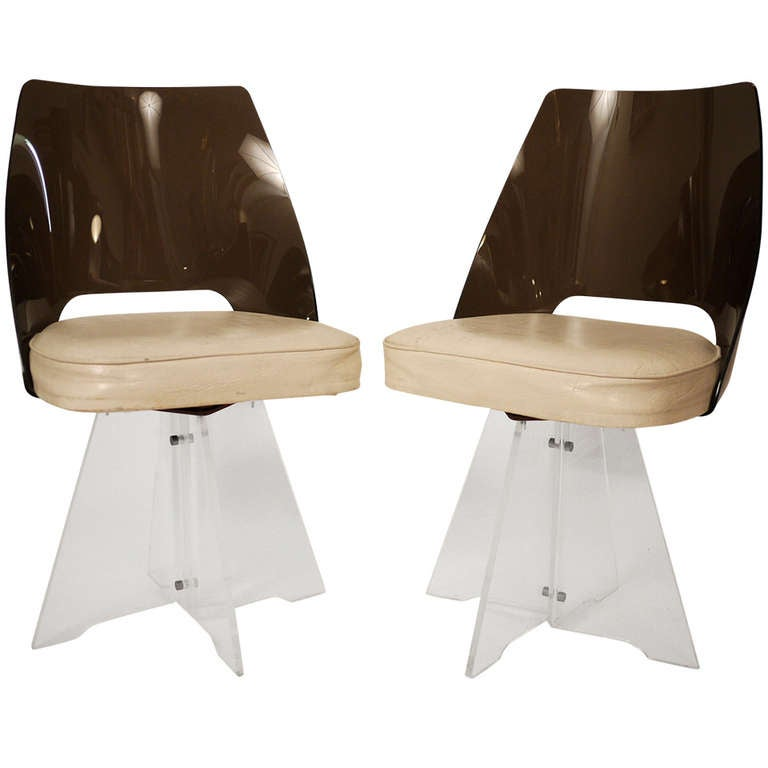 Pair of 1950s Lucite Chair