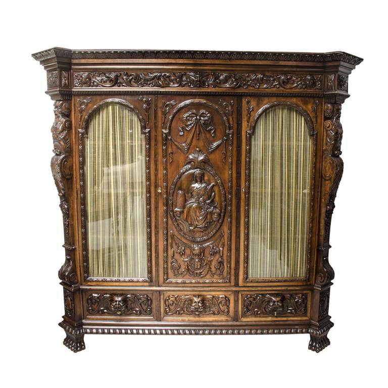 19th century belgian vitrine at 1stdibs. Black Bedroom Furniture Sets. Home Design Ideas