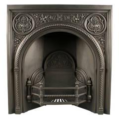 Rare Coalbrookdale Register Grate in the Gothic Revival Manner
