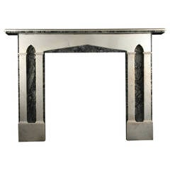 English Regency Gothic Antique Fireplace Surround