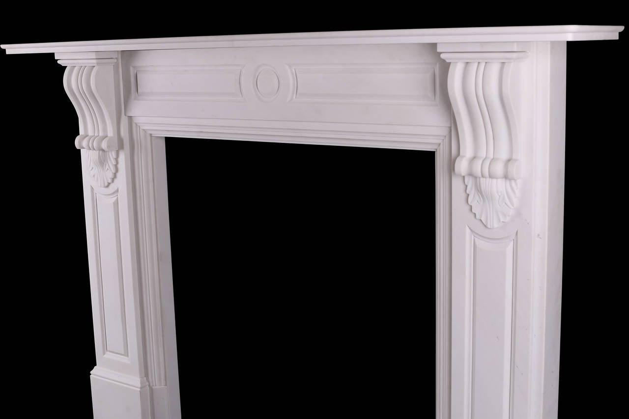 corbel fireplace panelled columns 1840s style