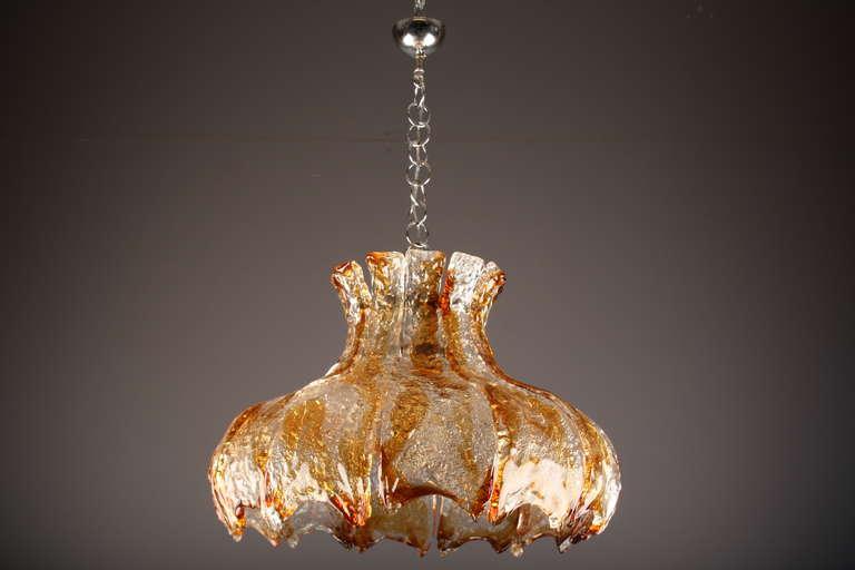 Italian Mazzega Murano Glass Chandelier, circa 1960s For Sale