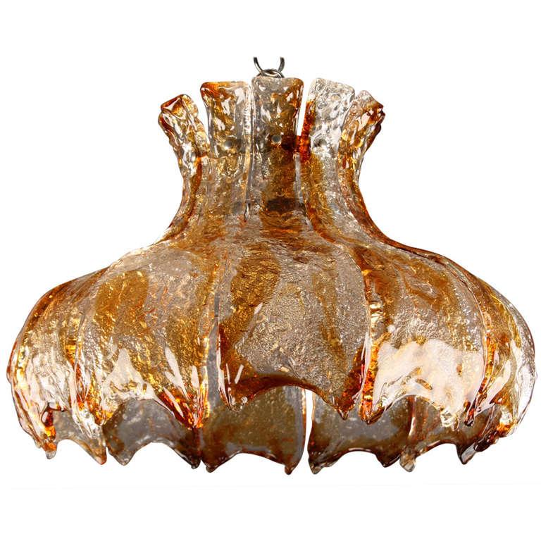 Mazzega Murano Glass Chandelier, circa 1960s For Sale