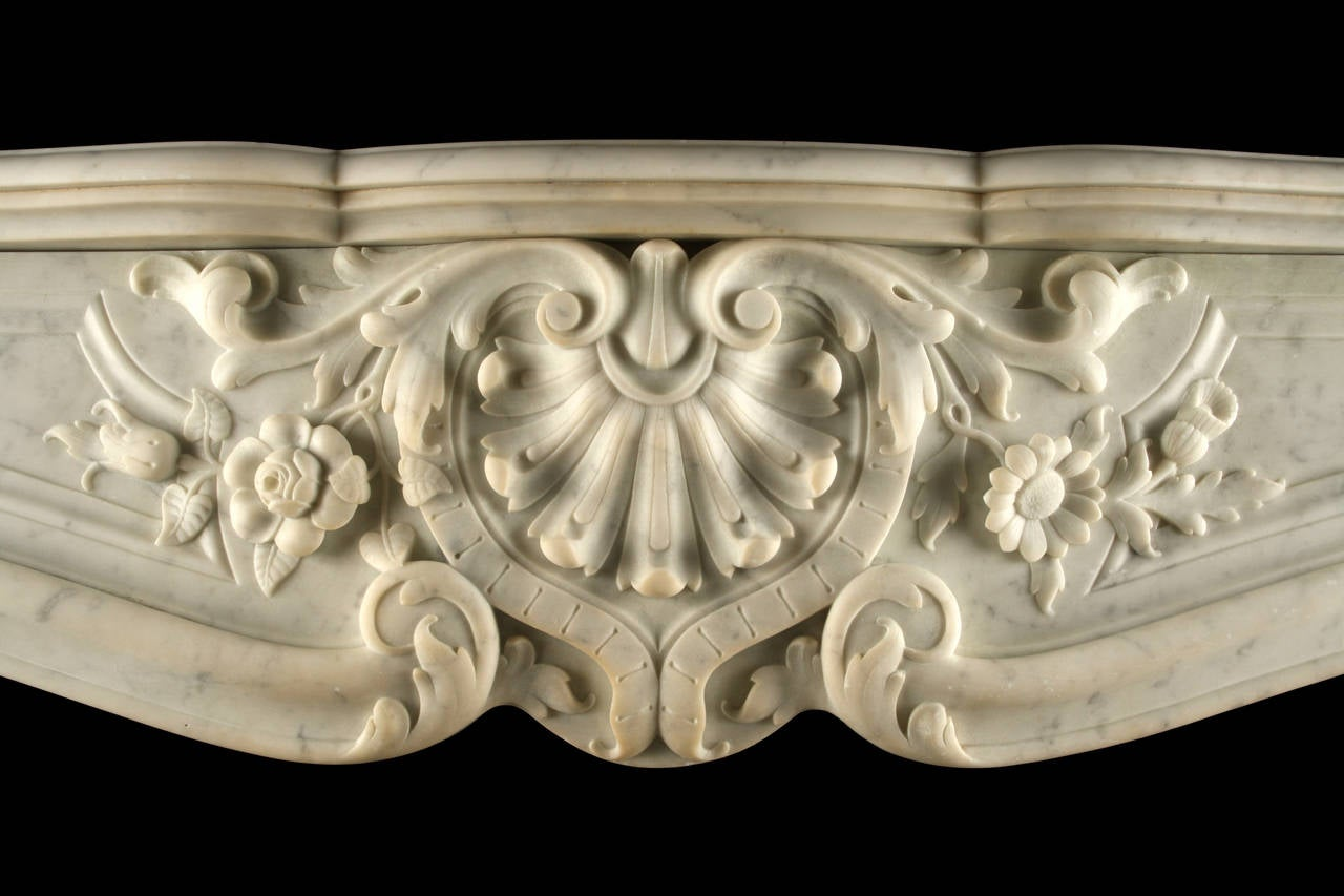 antique louis xv rococo fireplace surround circa 1860 for sale at