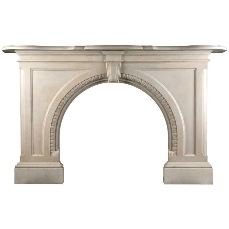 Very Grand Early Victorian Arched Fireplace 1