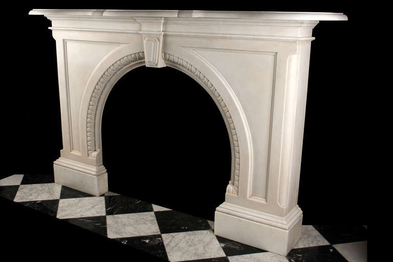Very Grand Early Victorian Arched Fireplace image 4