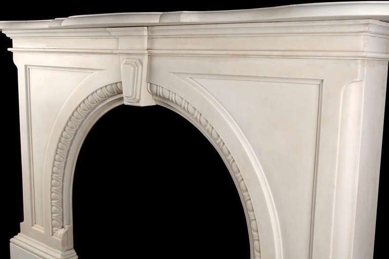 Very Grand Early Victorian Arched Fireplace image 5