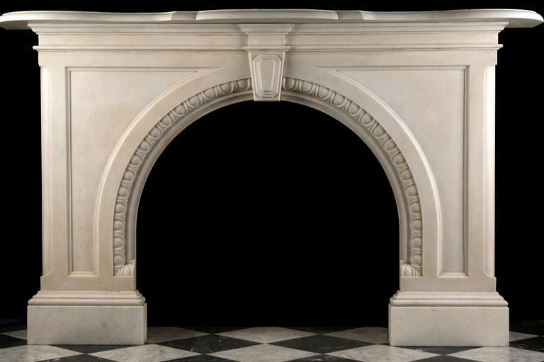 Very Grand Early Victorian Arched Fireplace 2
