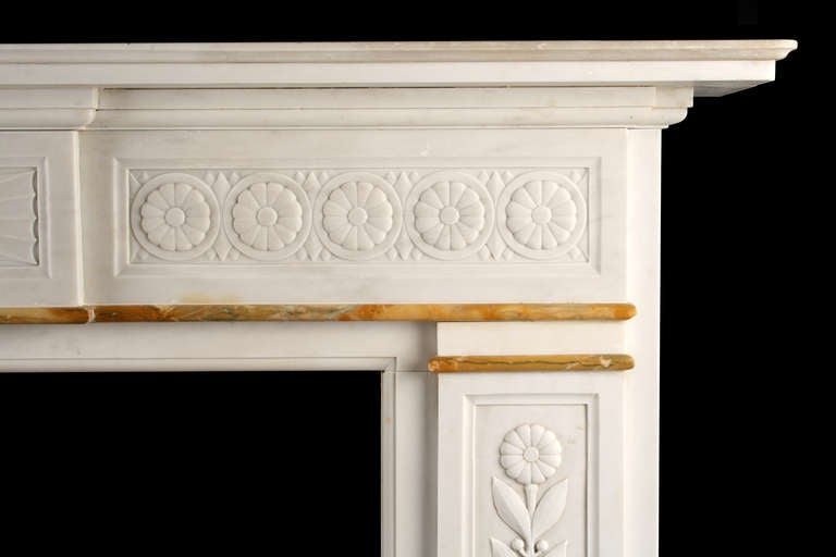 An Antique Victorian Fireplace Carved In White Statuary