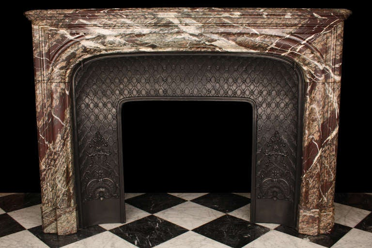 French Louis XIV Rouge Marble Fireplace At 1stdibs