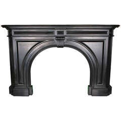 English Regency Arched Black Marble Chimney Piece