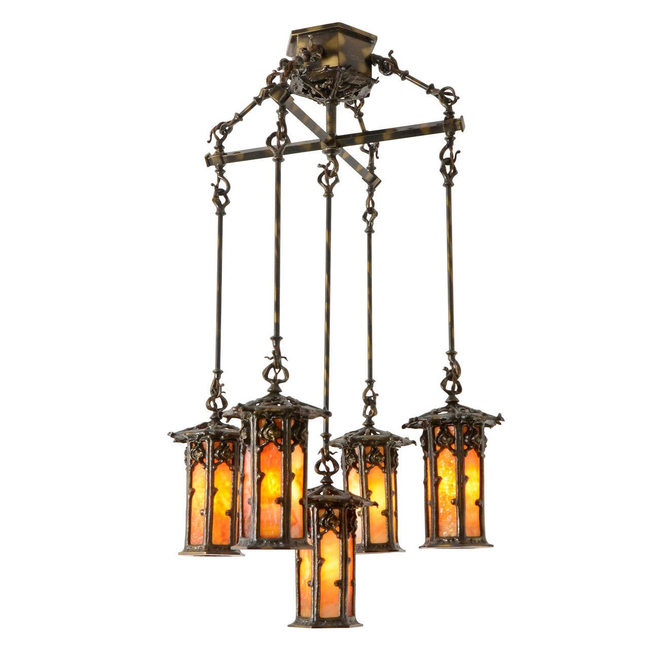 Historic markham house five light chandelier circa 1911 at 1stdibs - Circa lighting chandeliers ...