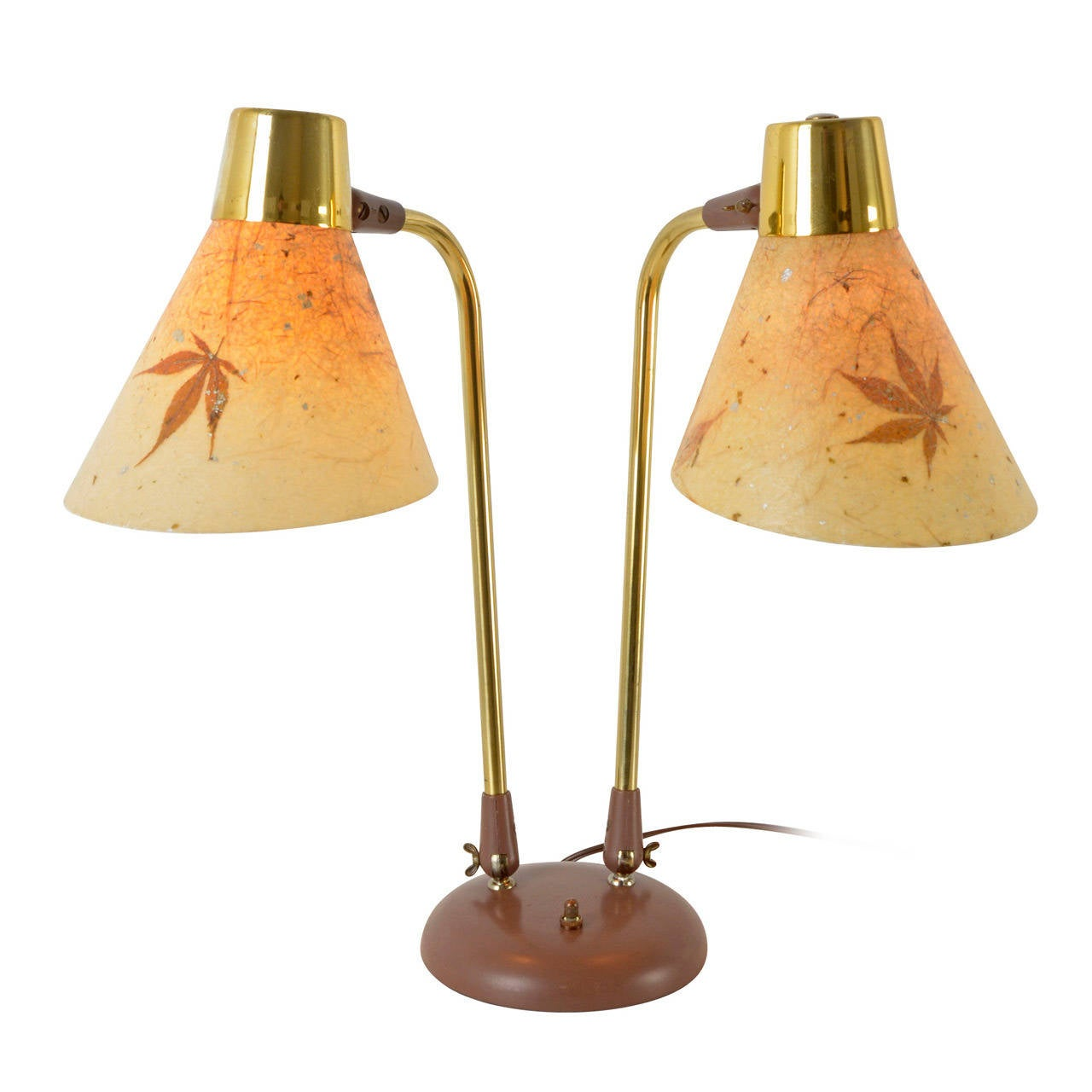 Mid century natural table lamp with maple leaf shades circa 1965 mid century natural table lamp with maple leaf shades circa 1965 1 geotapseo Gallery