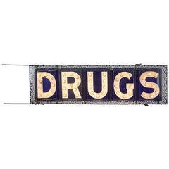 Incredibly Rare Double-Sided Federal Electric Company Drugs Sign, circa 1903