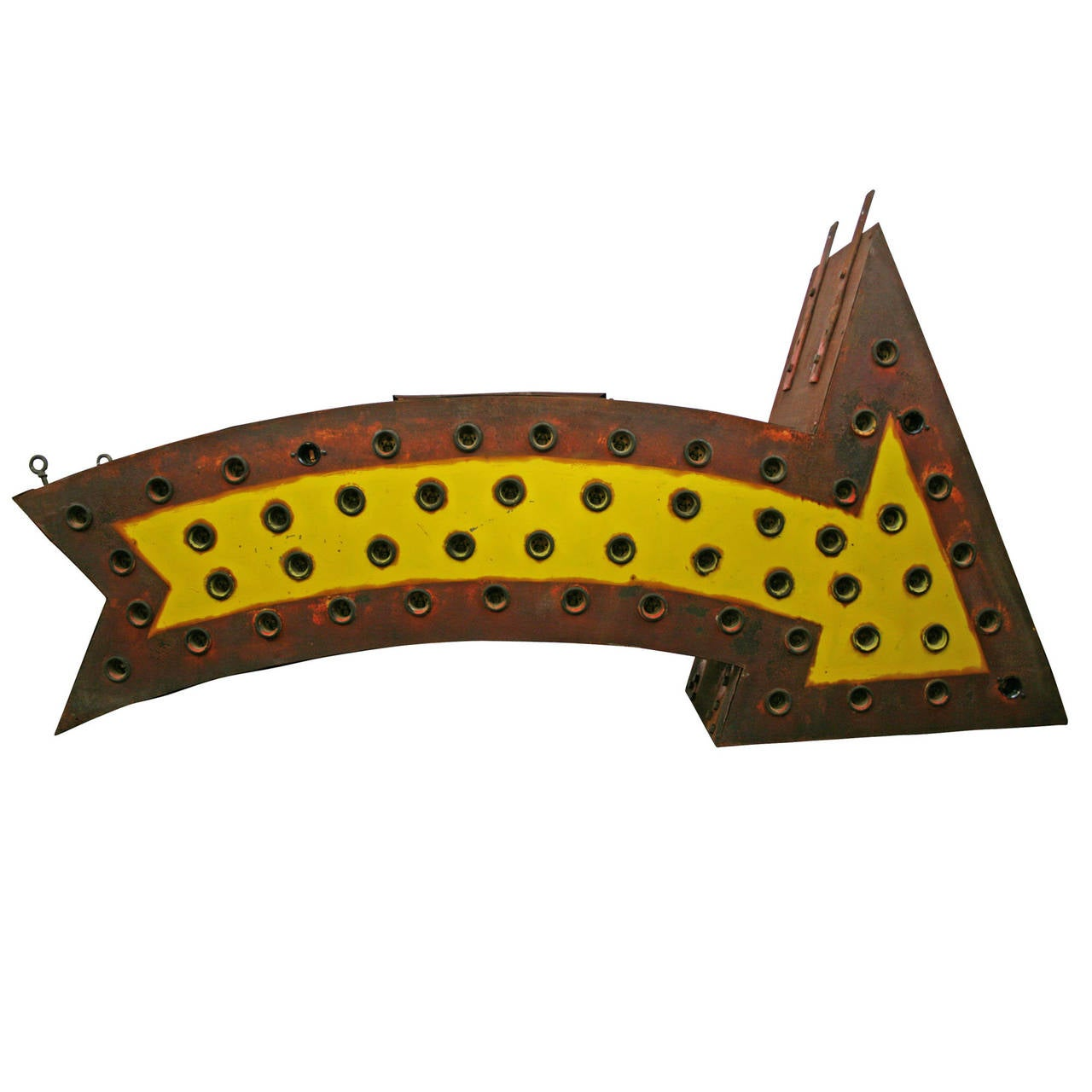 Perfectly Aged Lighted Carnival Arrow, circa 1950 3
