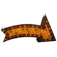 Perfectly Aged Lighted Carnival Arrow, circa 1950