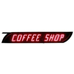 Double-Sided Neon Coffee Shop Sign, circa 1950
