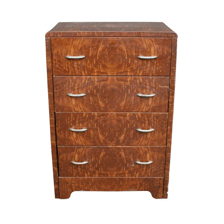 Simmons Faux Wood Grain Metal Dresser Circa 1930s At 1stdibs
