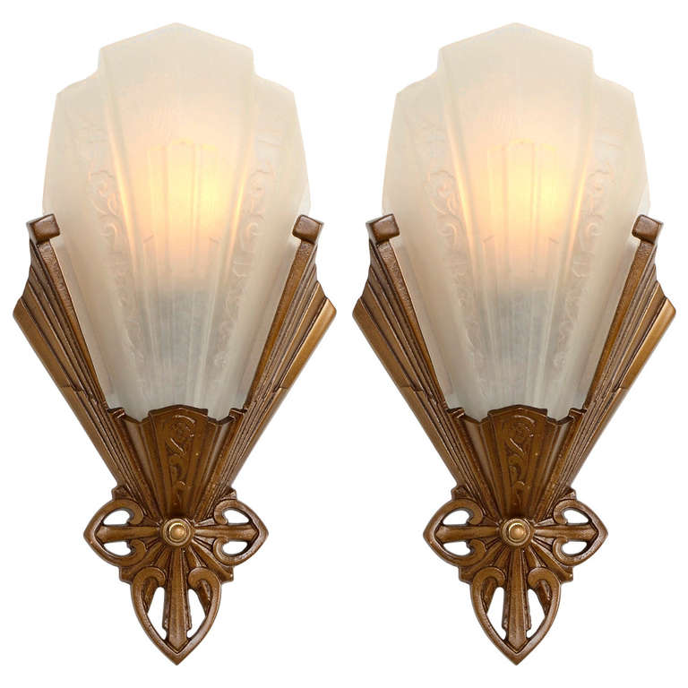 Pair of Art Deco Wall Sconces by J.C. Virden
