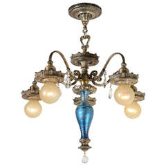 American Art Deco 5 Light Soleure Or Quot Brown Tip