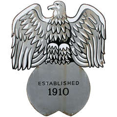 Early Enamel Eagle Sign, circa 1930s