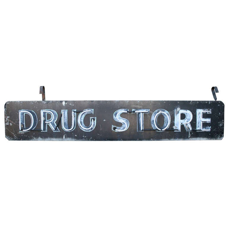 Double-Sided Neon Drug Store Sign, circa 1955 2