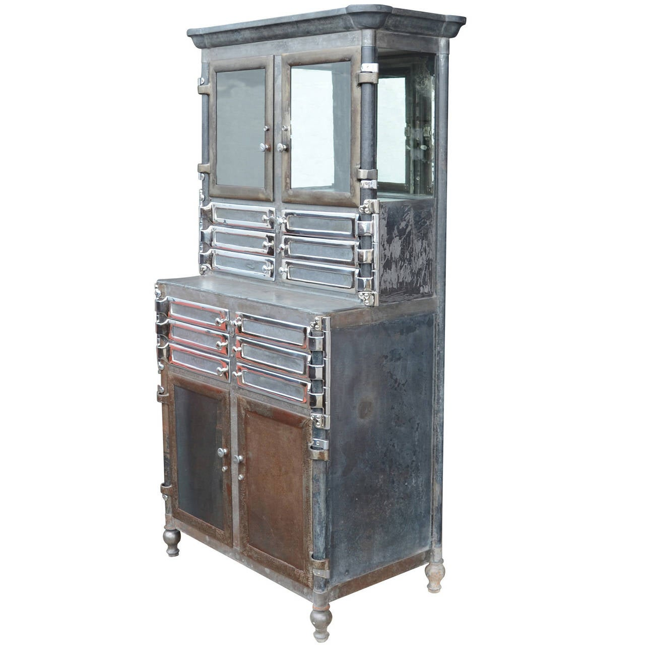 Incredible chrome and raw steel medical cabinet c1920 at 1stdibs - Cabinet medical paris 15 ...