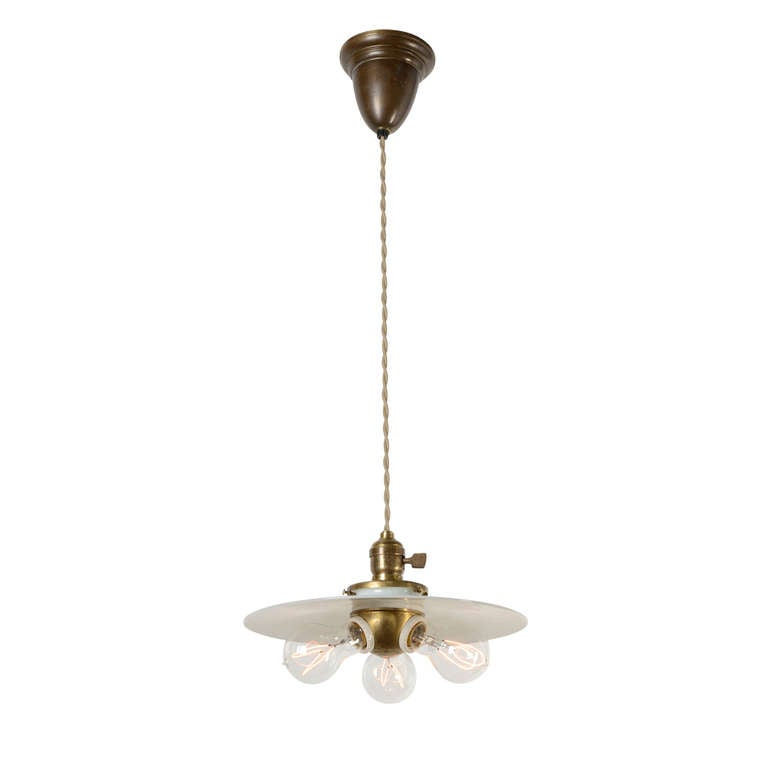 Ceiling Pendant Globe Cast Iron Glass Opal