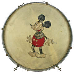 Mickey Mouse Themed Kick Drum, circa 1930s