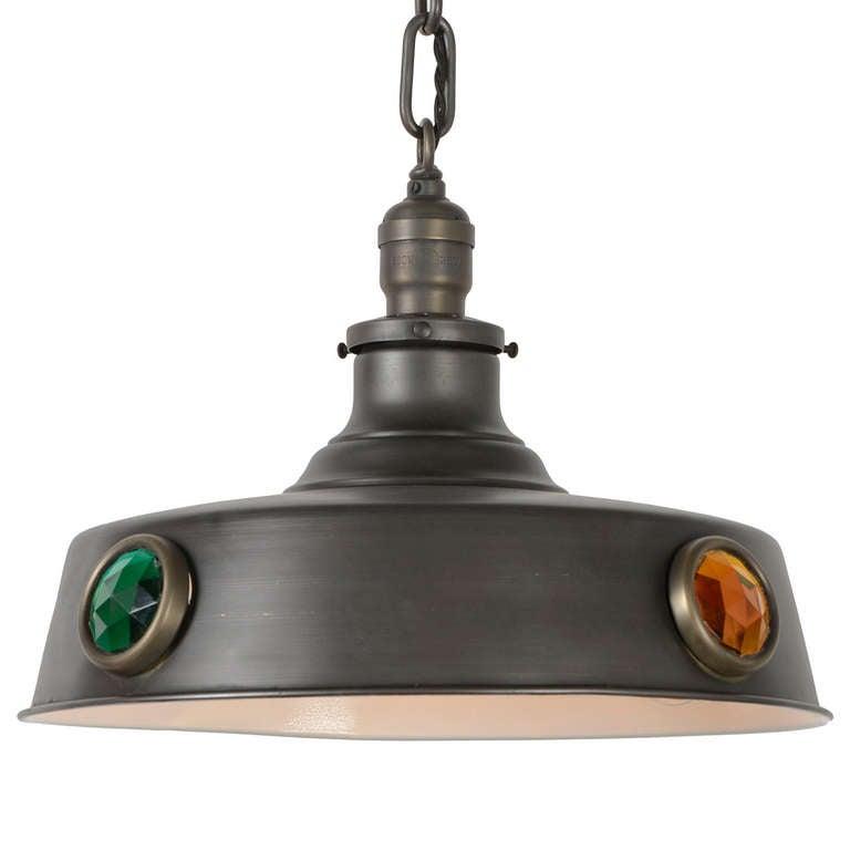 3 Light Metal Ball Design Pool Table Light Billiard: Brunswick Style Billiard Pendent Light At 1stdibs