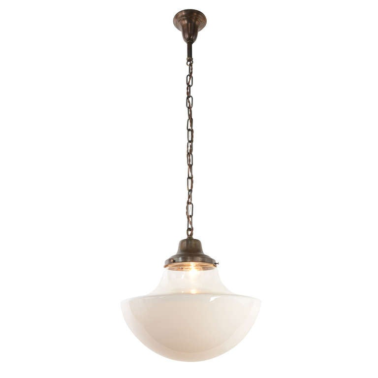 schoolhouse pendant with dual opacity shade at 1stdibs