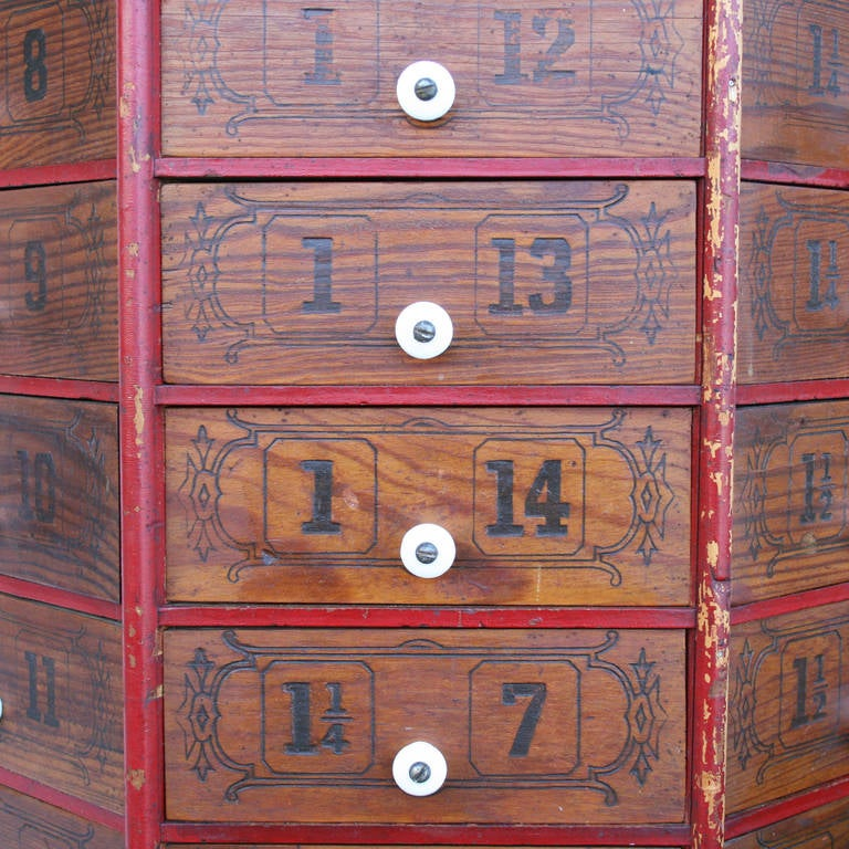 General Store Revolving Nut and Bolt Cabinet at 1stdibs