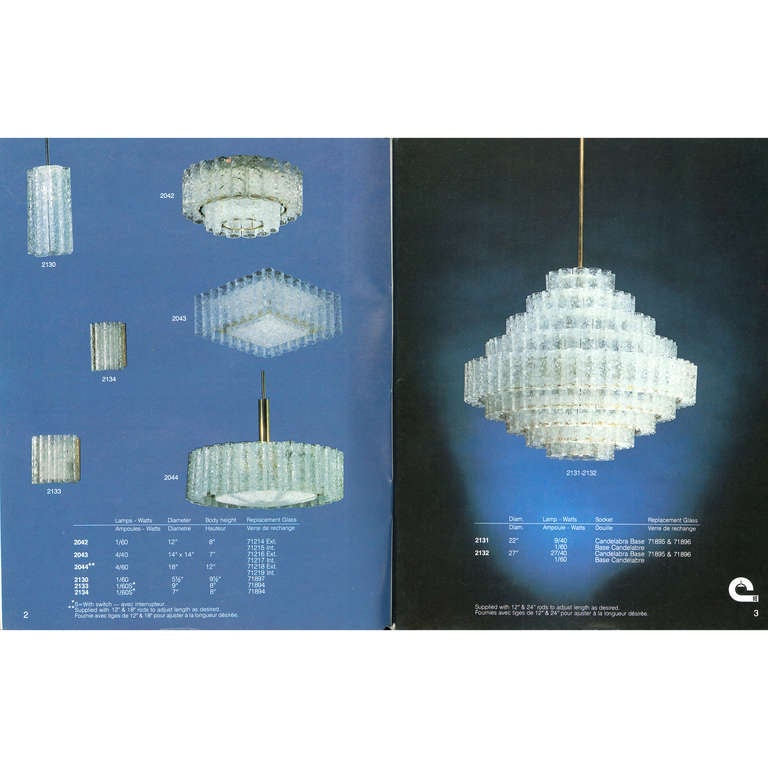 Contemporary Ice Drum Chandelier Circa 1973 At 1stdibs