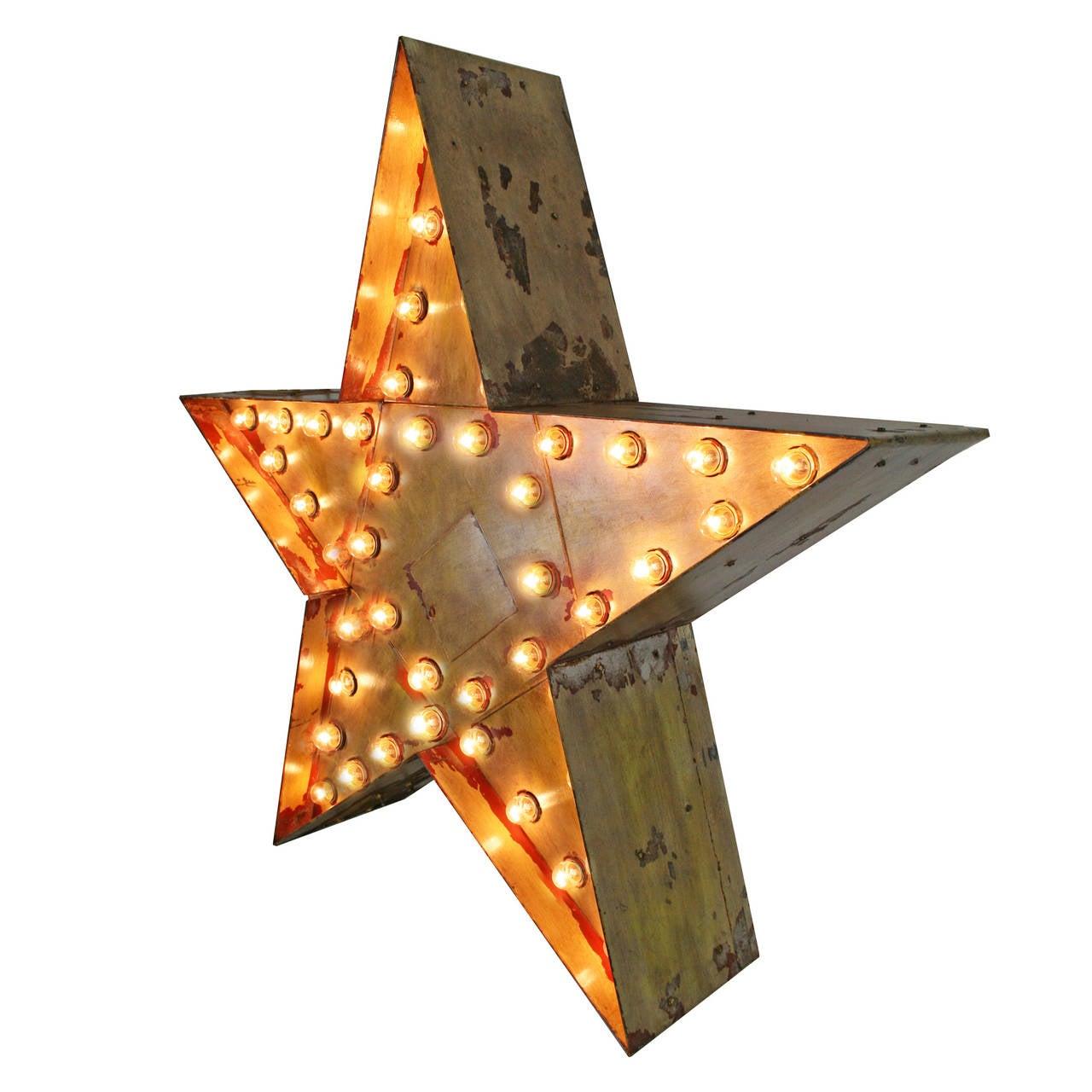 Giant Lighted Flashing Star Sign, circa 1955 2
