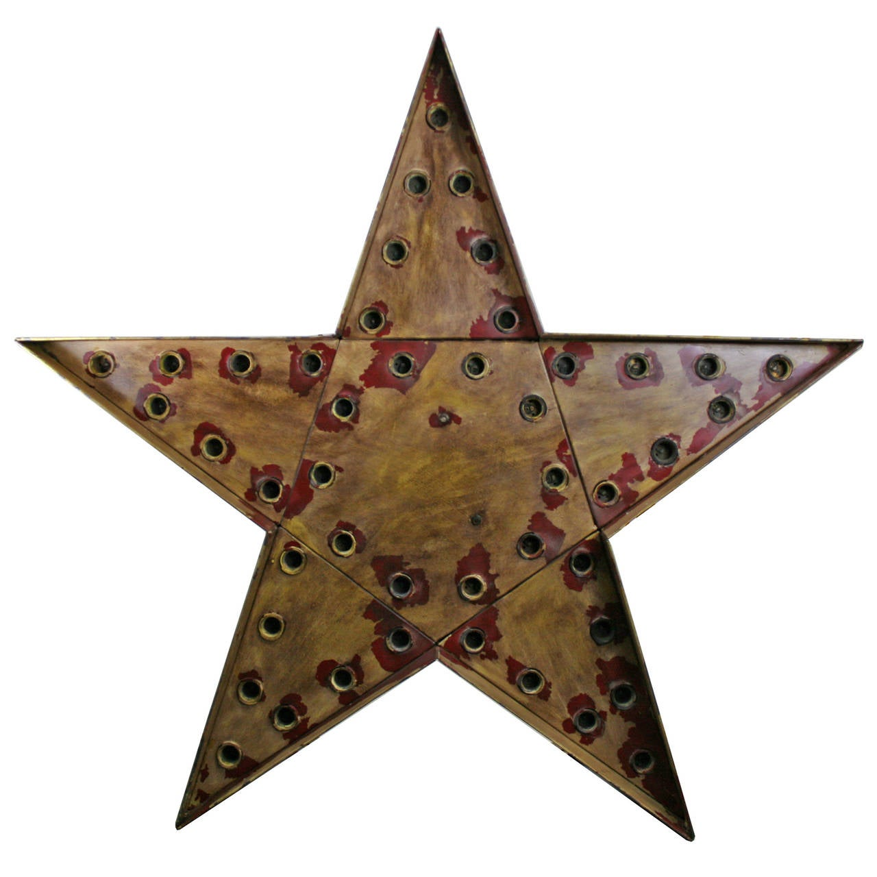 American Giant Lighted Flashing Star Sign, circa 1955 For Sale