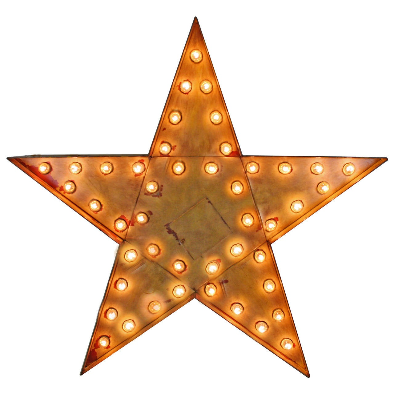 Giant Lighted Flashing Star Sign, circa 1955 For Sale