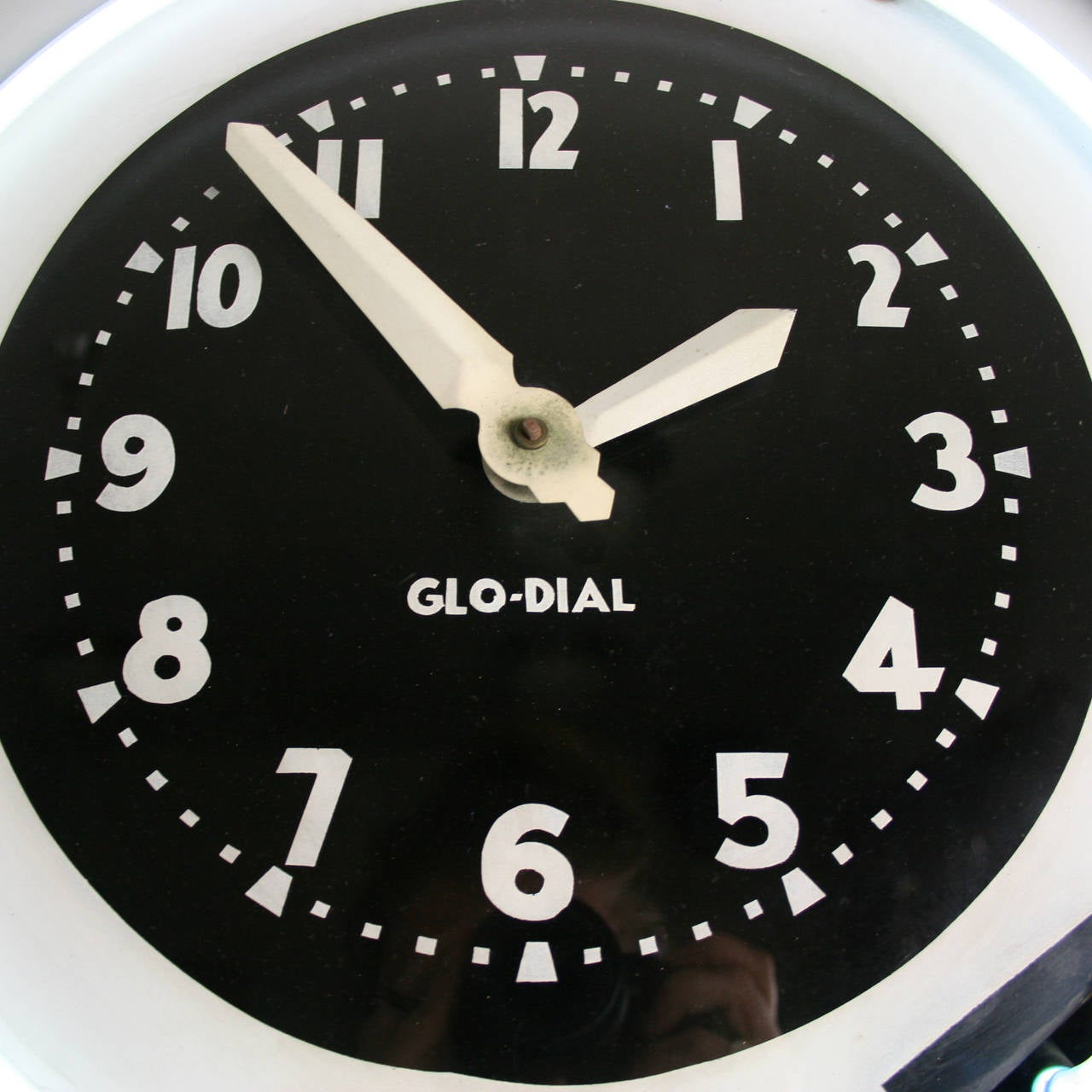 Large art deco glo dial neon clock c1930s at 1stdibs large art deco glo dial neon clock c1930s 3 amipublicfo Image collections