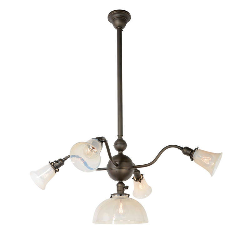 Large and uncommon 5 light commercial chandelier c1910 at 1stdibs large uncommon 5 light commercial chandelier c1910 for sale aloadofball Choice Image