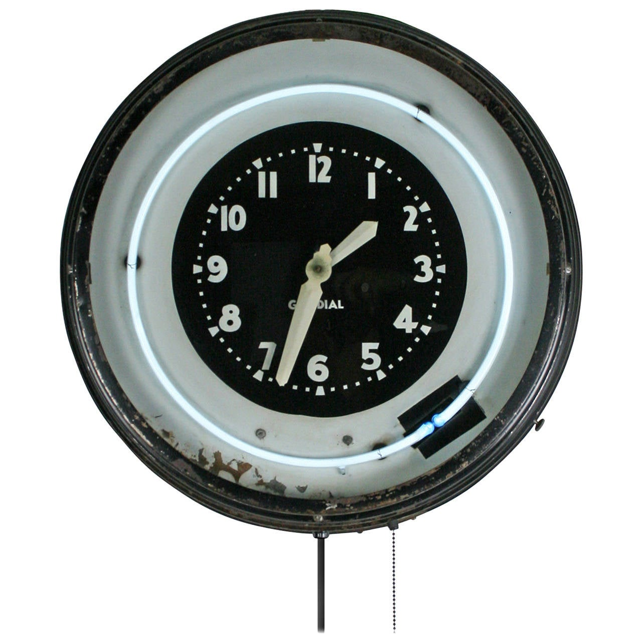 Large Art Deco Glo Dial Neon Clock C1930 S At 1stdibs