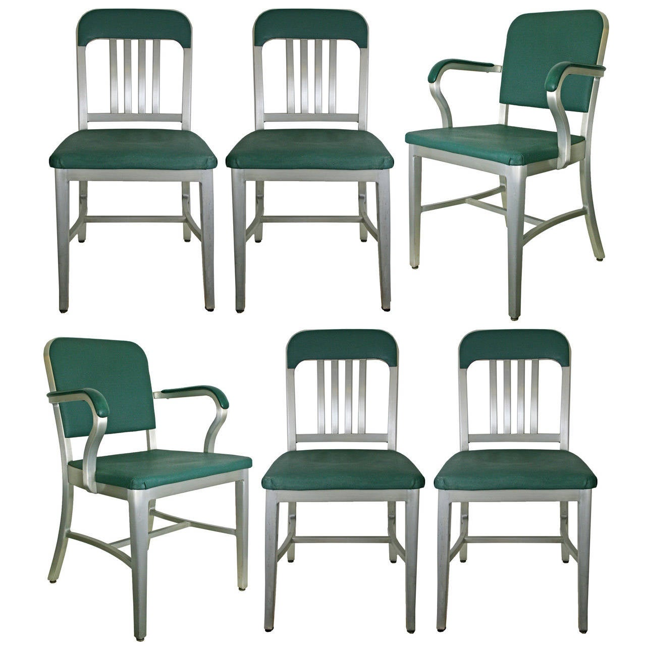 Set Of 6 Early Goodform Office Chairs C1940 At 1stdibs