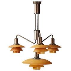 Ceiling Light Designed by Poul Henningsen for Louis Poulsen, Denmark, 1930s