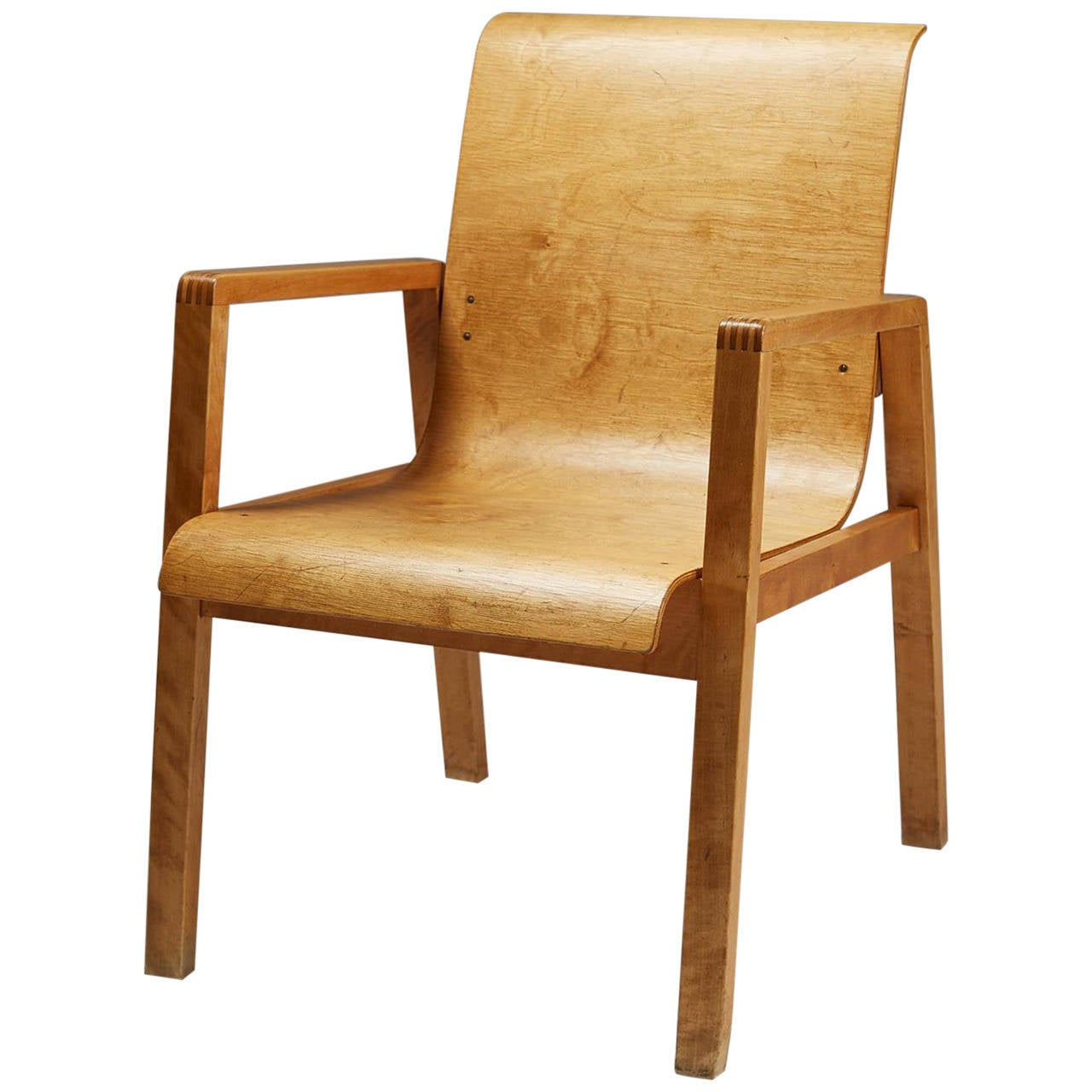 Chair designed by alvar aalto for artek finland 1950s at for Alvar aalto chaise