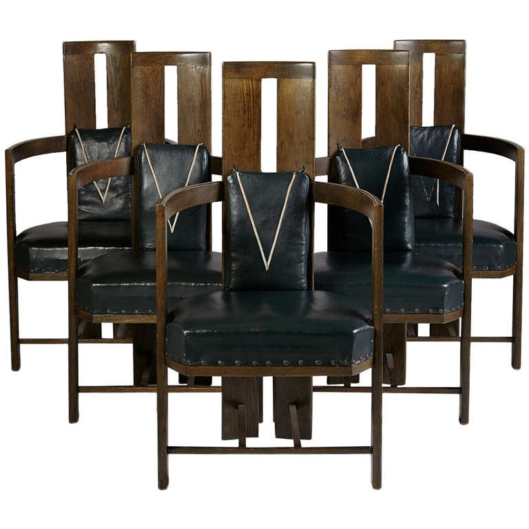 Set of dining chairs designed by eliel saarinen finland for Eliel saarinen furniture